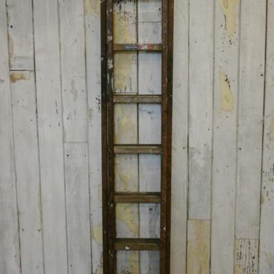 Vintage Industrial Wooden Extending Ladder