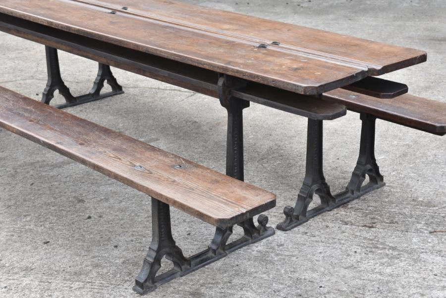 victorian gothic metamorphic chapel bench tables