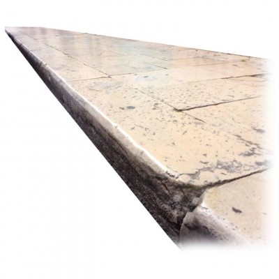 Antique  Curbs of Burgundy Limestone, Age 18th Century