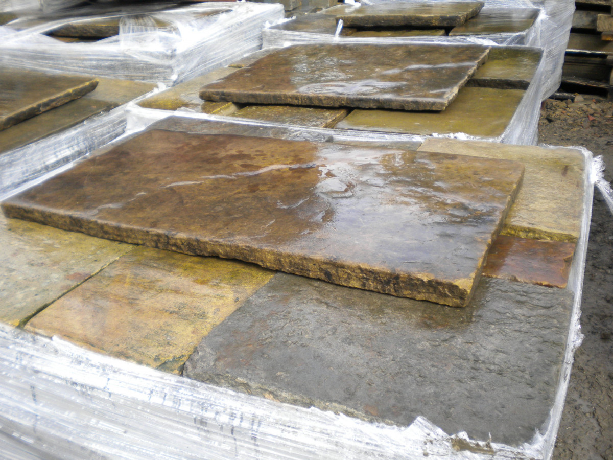 Reclaimed Yorkstone cathedral grade paving , Abacus Stone Sales