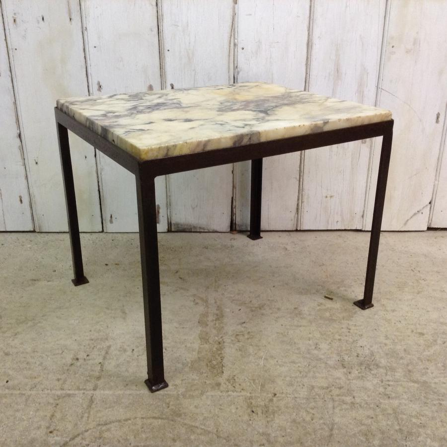 Reclaimed Marble Side Table