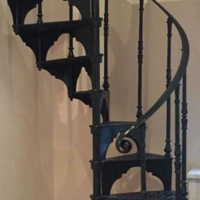 Safety Stairways Cast Iron Green Spiral Staircase