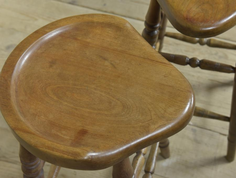 pair late 19th/early 20th century high stools