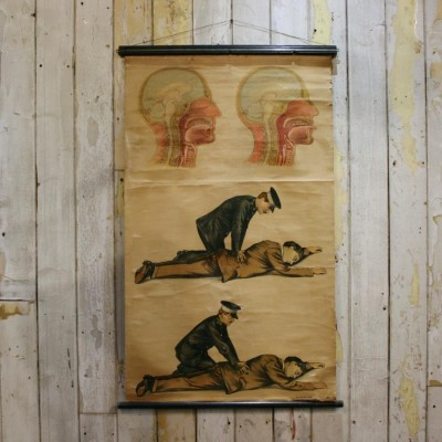 Antique First Aid Poster