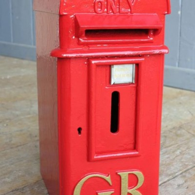 "Cast Iron GR 'Hovis' Pole Mounted Post Box George 5th  20"" Tall"