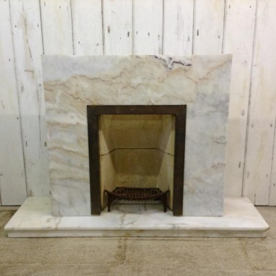 Reclaimed Marble Fireplace