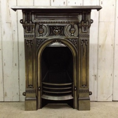 Reclaimed Victorian Polished Fireplace