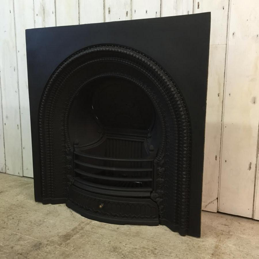 Victorian Style Cast Iron Fire Insert