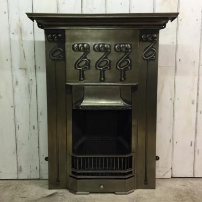 Polished Cast Iron Combination Fireplace