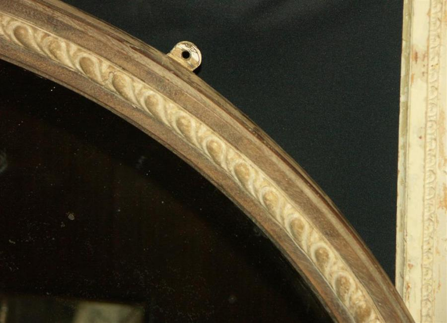large oval victorian antique mirror