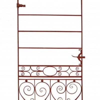 A tall and elegant 19th century wrought iron side gate