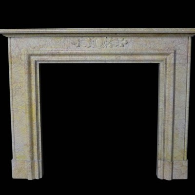 A mid-19th Century Valance marble fire surround