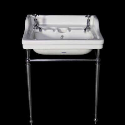 C. 1920s Musgraves basin / sink with chrome stand