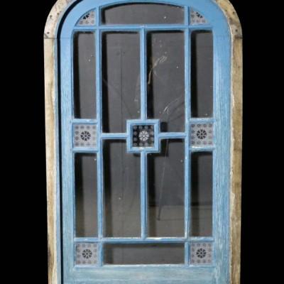 A small antique glazed oak door