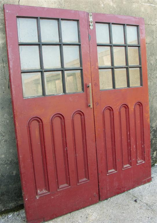 pair art deco doorways
