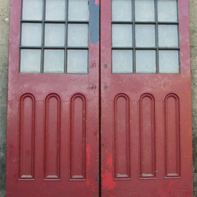 pair art deco doorways