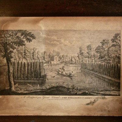 Antique Print of Chiswick House Gardens