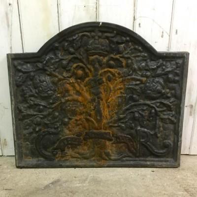 Reclaimed 19th Century Cast Iron Fireback