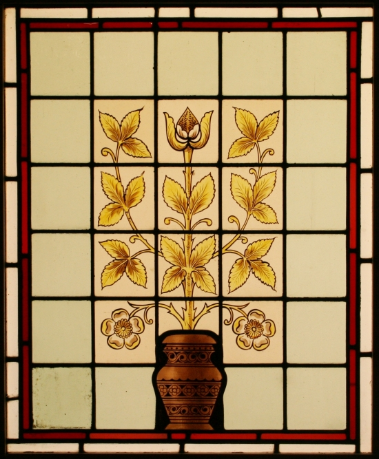 933ee392c6b For Sale Antique Edwardian Hand Painted Leaded Stained Glass Window ...