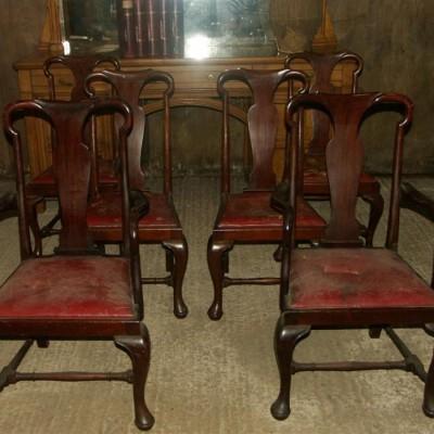 Good set of  6 mahogany chairs