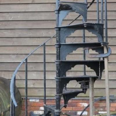 Cast Iron Black Spiral Staircase