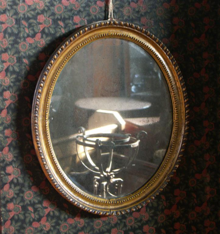 early 19th century oval mirror