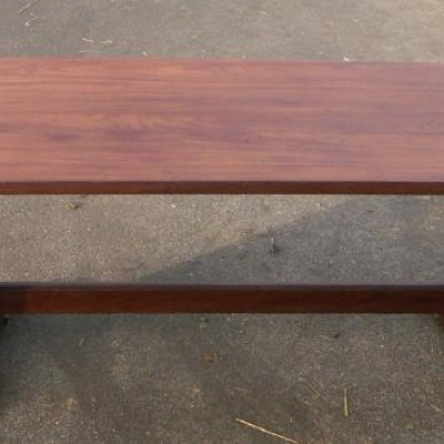 large antique hardwood dining table