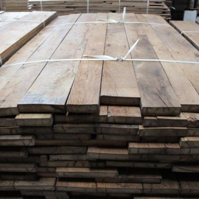 Antique reclaimed French oak floorboards brushed