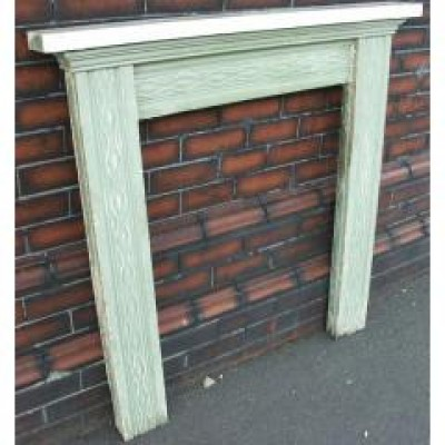 early victorian carved pine surround