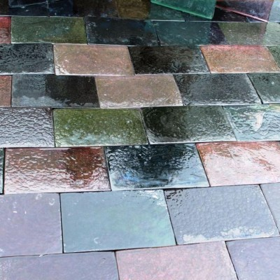 Solid Glass Tiles In Mixed Colours
