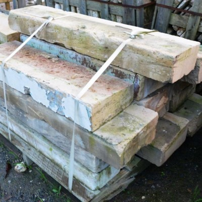 Antique french limestone window ledges