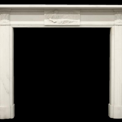 Fine Regency Statuary Marble Fireplace Surround