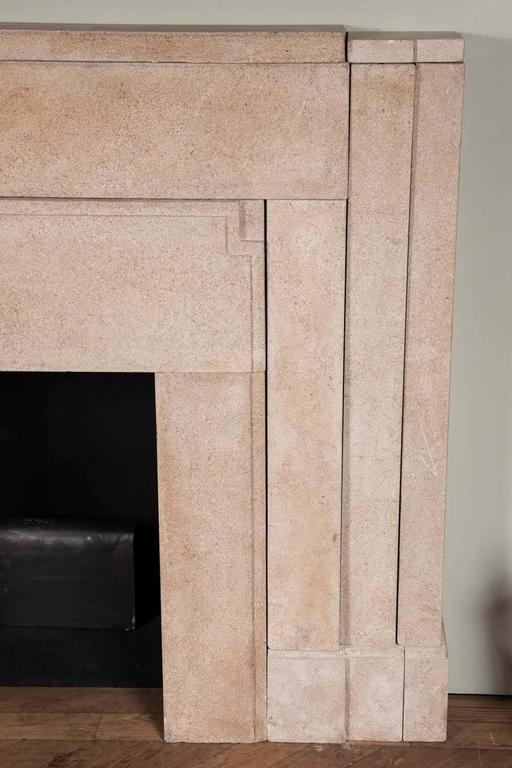 Pair of 1920s Art Deco Hopton Wood Stone Fire Surrounds
