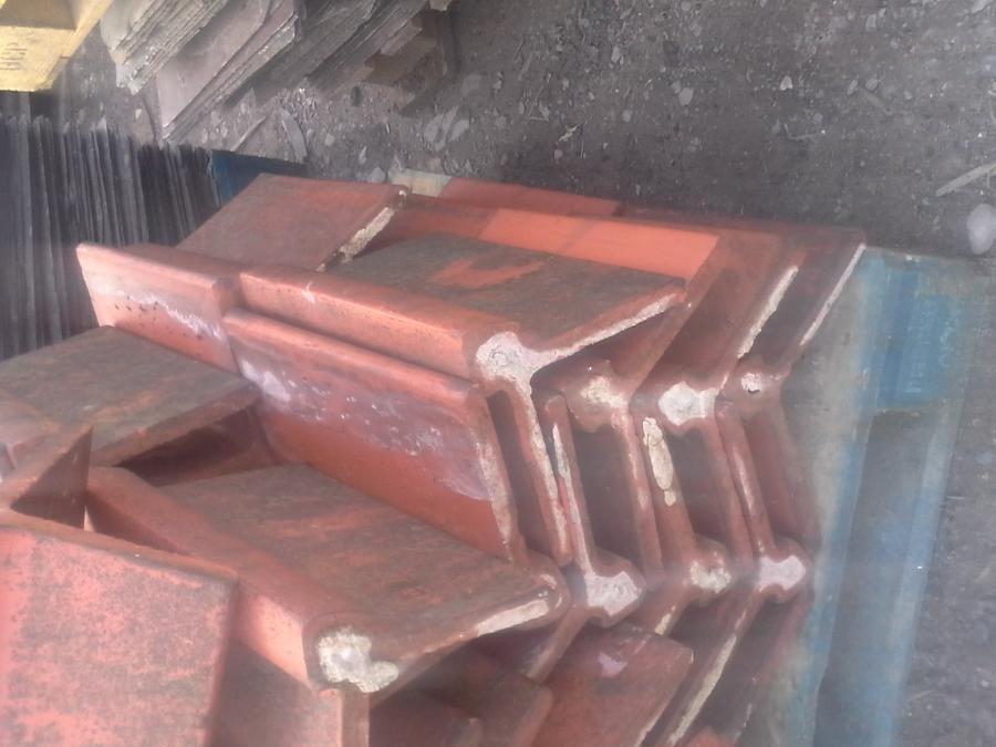 Reclaimed clay ridge tiles