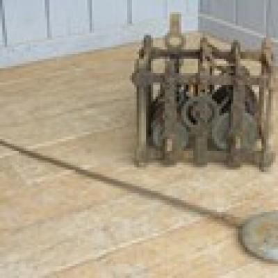 Antique Victorian Turret Clock & Pendulum