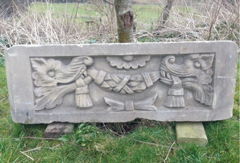 Two Carved Antique Yorkstone Panels