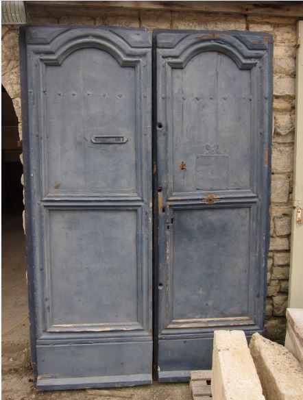 Pair Of Large Early 18th Century Antique French Exterior Doors