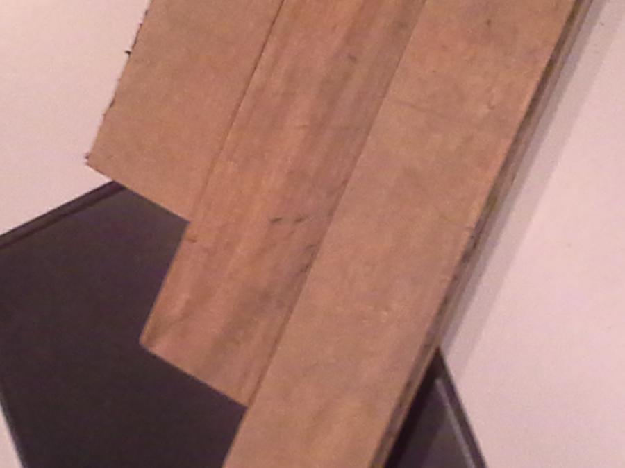 Reclaimed maple strip flooring