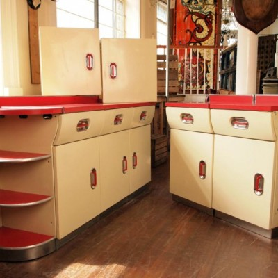 English Rose Kitchen In Red.