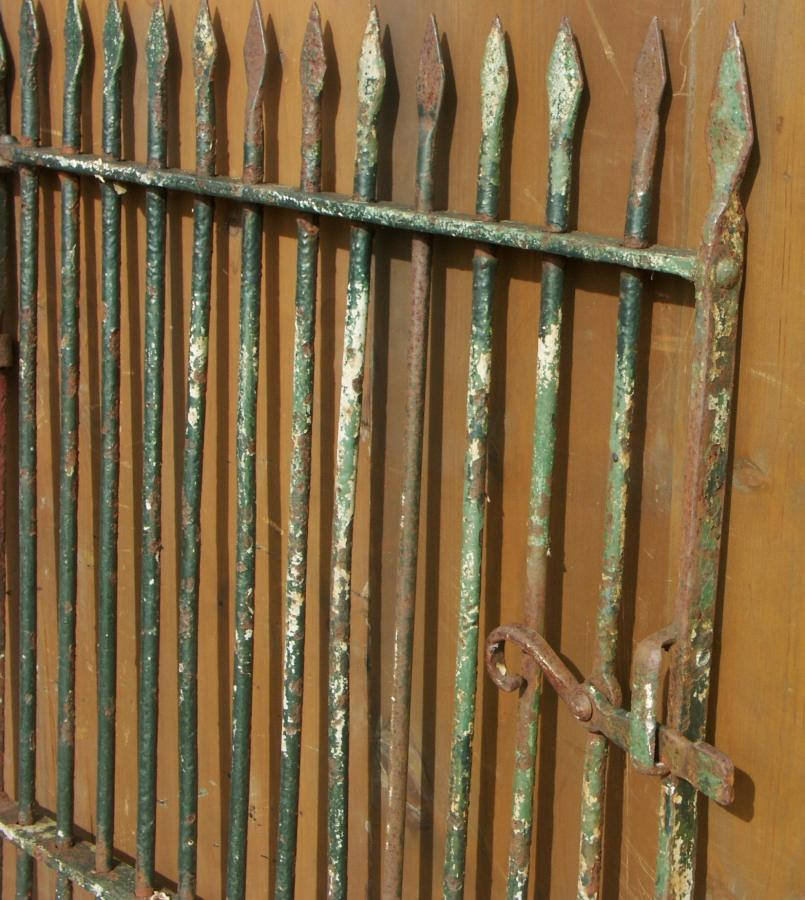 antique wrought iron pedestrian gate