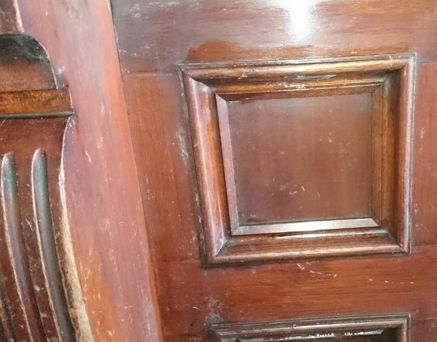Victorian solid mahogany bar front