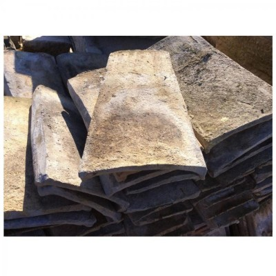 Reclaimed French Mission Barrel Roof Tiles, Terra Cotta,