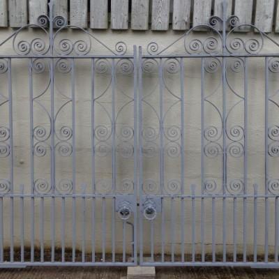 Antique driveway entrance gates.