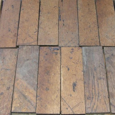 antique oak parquet - 33 square yards