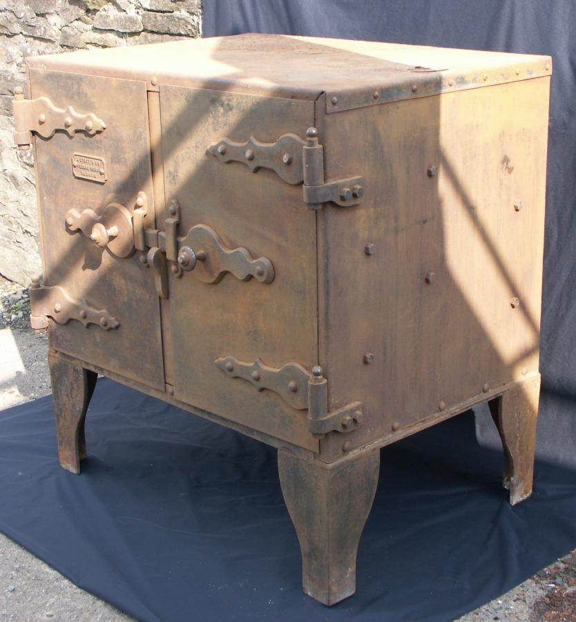 antique cast iron and steel oven cupboard