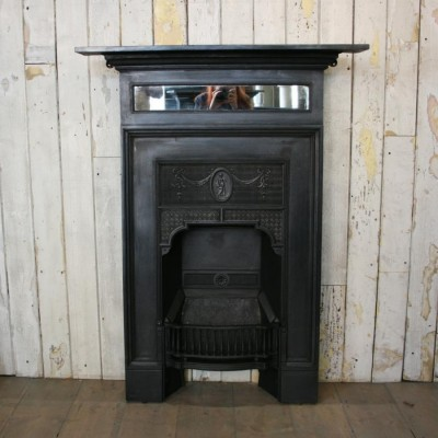 Antique Mirrored Cast Iron Victorian Fireplaces (5 Available)
