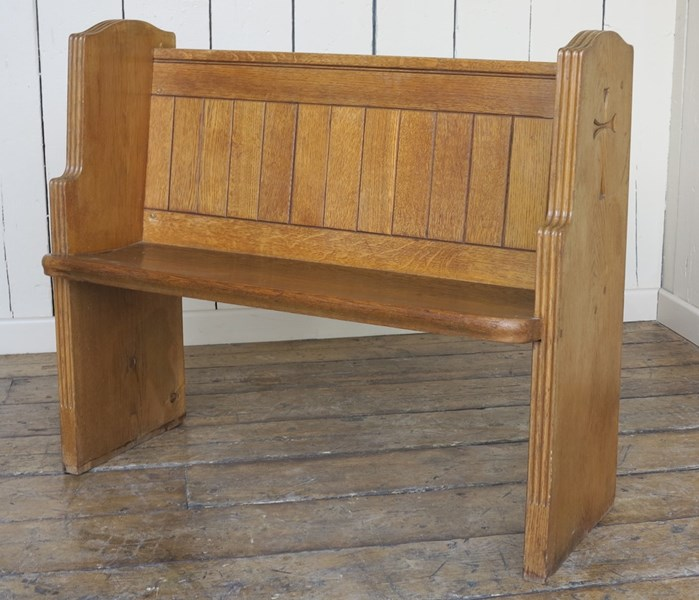 pine bench pitch solid victorian atlas pew antiques antique church