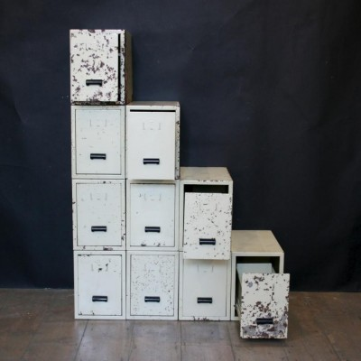 Large Vintage Industrial Office Drawers