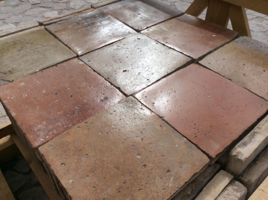 For Sale Antique Reclaimed Terracotta Tile Flooring Age 16th
