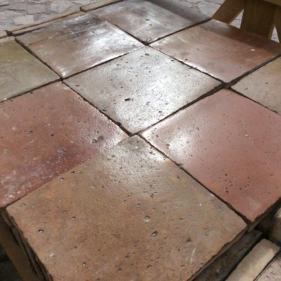 Antique Reclaimed Terracotta. Tile flooring Age 16th Century